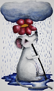 rainy day mouse