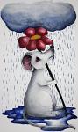 rainy day mouse