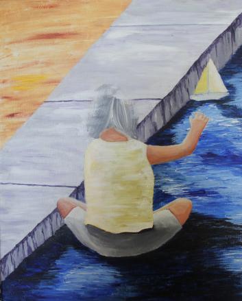 Little Girl Sailing unfinished