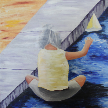 Little Girl Sailing unfinished
