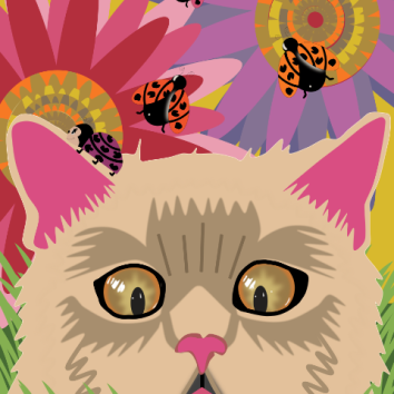 Too Many Ladybugs - Vivid Pink