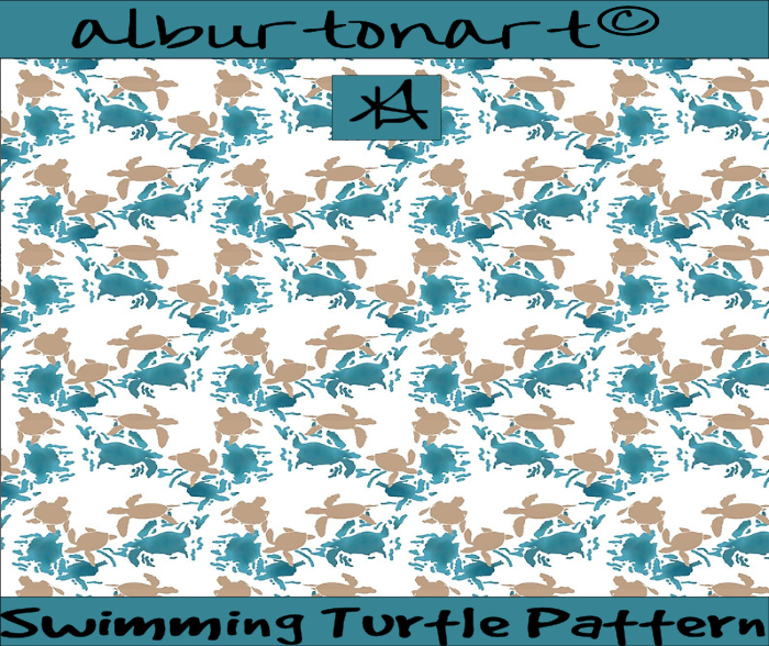 Swimming Turtles Pattern Ad