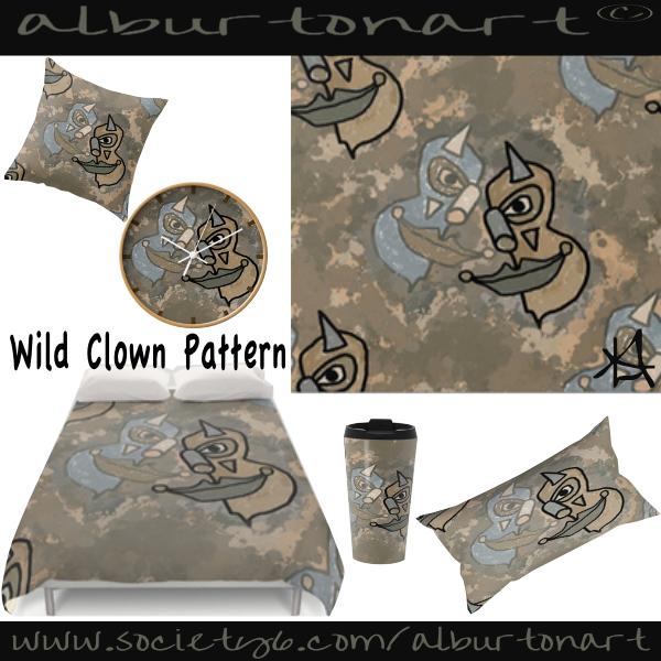 Wild Clowns Pattern