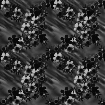 Black Blossoms Pattern